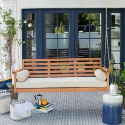 Belham Living Brighton Deep Seating 65 in. Porch Swing Bed w