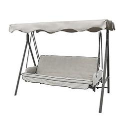 Canopy Replacement For 3-Person Outdoor Metal Swing Backyard