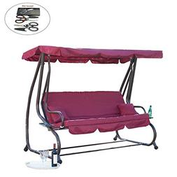 allgoodsdelight365 Outdoor Canopy Swing/Bed Patio Deck Garde