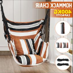 canvas hammock hanging rope chair porch swing