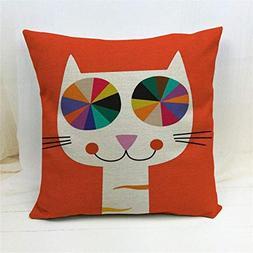 Vivian Inc New Cartoon Style Home Decorative Pillow Cat Prin