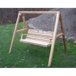 Creekvine Designs Cedar Country Hearts Porch Swing with Stan
