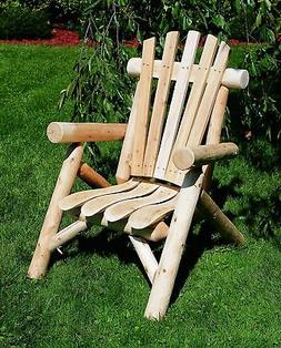 cedar log lounge chair