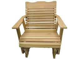 Kilmer Creek 2' Natural Cedar Porch Glider, Amish Crafted