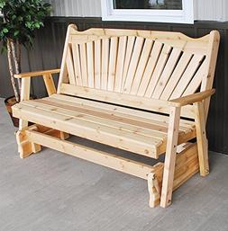 CEDAR PORCH GLIDER BENCH Outdoor Patio Gliding Bench, 2 Pers