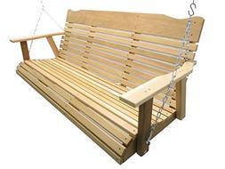 Kilmer Creek 5' Natural Cedar Porch Swing, Amish Crafted - I