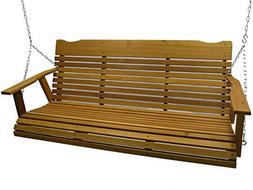 Kilmer Creek 5' Cedar Porch Swing W/stained Finish, Amish Cr