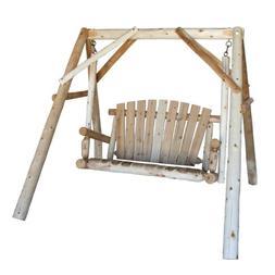 Lakeland Mills CFU18 4 Foot Cedar Log Yard Swing, Natural, H