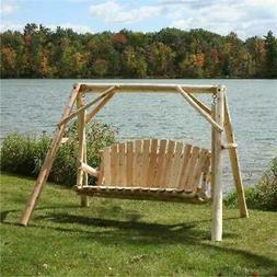 cfu28 5 ft cedar log yard swing