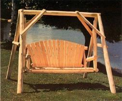Lakeland Mills CFU28 Cedar Log Outdoor Yard Swing, 5-Feet