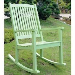 Chelsea Large Porch Rocker in Mint Green Finish