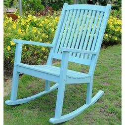 Chelsea Large Porch Rocker in Sky Blue Finish