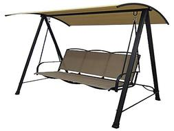 Mainstays* Classic Outdoor 3-Person Sling Canopy Porch Swing