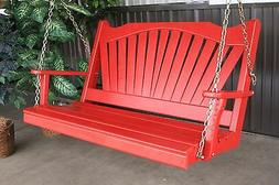 Classic Pine Outdoor 4 Foot Fanback Porch Swing *9 Paint Col