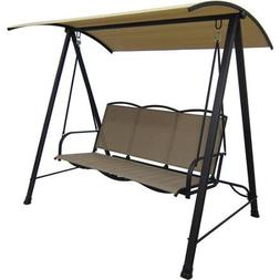 Mainstays Classic Sling Swing, Tan, Seats 3 Stylish and Stur