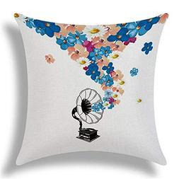 Vivian Inc Fashion Style Cotton Linen Cushion Music Score Pr