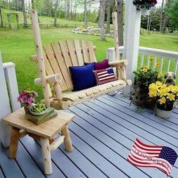 Lakeland Mills Cottonwood Creek White Cedar Log Porch Swing
