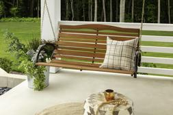 Country Garden 4' Hardwood High Back Porch Swing with Chains