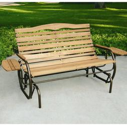 Country Garden Glider with Trays in Bronze