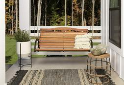Country Garden Swing Seat Bronze Outdoor Living Pation Garde