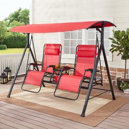 Couples Recliner 2 Person Zero Gravity Reclining Porch Swing