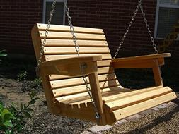 2 Foot Cypress Porch Swing with Unique Adjustable Seating An