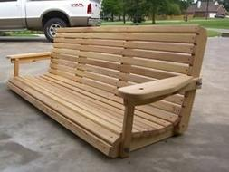 Cruze's 6' Cypress Porch Swing Unique Adjustable Seating Ang