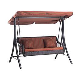 Sunjoy D-DNC492PST 3-Seat Striped Adjustable Tilt Canopy Wic