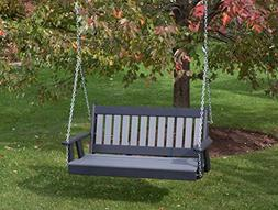 5FT-DARK GRAY-POLY LUMBER Mission Porch Swing Heavy Duty EVE