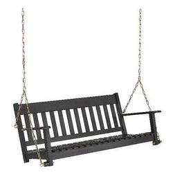 Better Homes & Gardens Delahey Hanging Wood Porch Swing