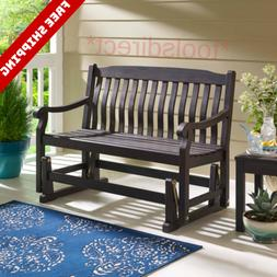Better Homes and Gardens Delahey Outdoor Porch Glider Bench