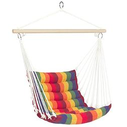 Best Choice Products Deluxe Padded Cotton Hammock Hanging Ch