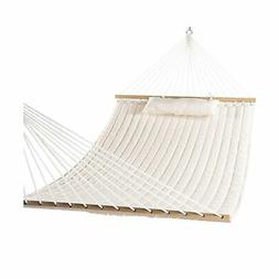 Lazy Daze Hammocks Double Quilted Fabric Swing with Pillow,