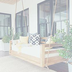 Easy DIY Porch Swing Bed Instructions with Tool and Material