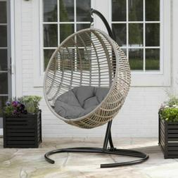 Egg Chair With Stand Nest Hammock Outdoor Swing Resin Wicker