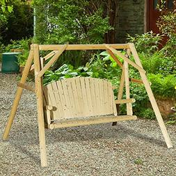 Sunjoy Fairbanks Porch Swing Made of Chinese Fir, 81 Inches