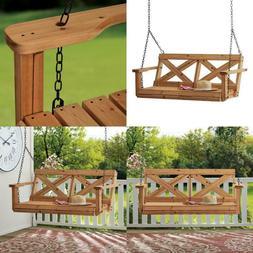 Farmhouse 2-Person All Cedar Wood Porch Swing