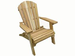 Kilmer Creek Folding Natural Cedar Adirondack Chair, Amish C