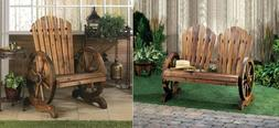 Front Porch Furniture Bench Country Theme Décor Adirondack