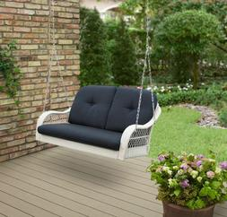 Front Porch Swing Cushion Set Chain Bench 2 Person Loveseat