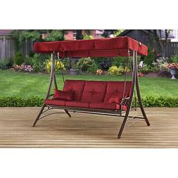 Front Porch Swing Outdoor Patio Deck Yard Lawn With Canopy &