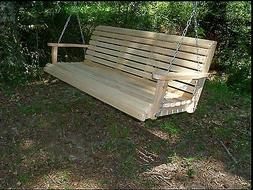 Garden 5 Ft Cypress Lumber Roll Back Porch Swing With Swing-