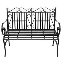 Garden Bench Metal Outdoor Patio Furniture Deck Chair Back Y