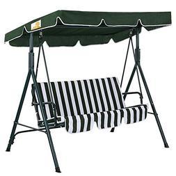Palm Springs Garden 3 Seater Hammock Cushioned Swing Chair O