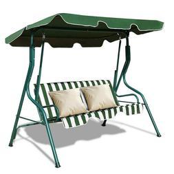 Garden Metal Outdoor Swing Chair 3 SEAT HAMMOCK Patio Canopy