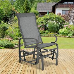 Outsunny Glider Swing Chair Seat Lounger Porch Rocker Outdoo