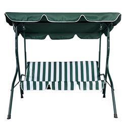 Allblessings Green Patio Swing Canopy 3 Person Awning Yard H
