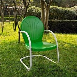 Griffith Metal Dining Chair - Finish: Grasshopper Green