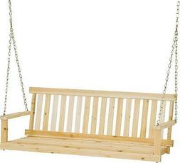 NEW JENNINGS H-24 4 FOOT TRADITIONAL WOODEN PORCH SWING WITH