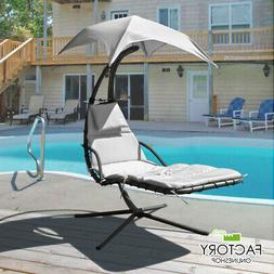 Hammock Chair Hanging Lounge Chaise Outdoor Patio Porch Cano